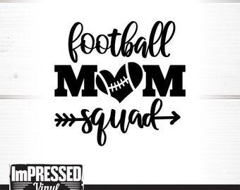 Football Mom Squad SVG- Instant Download