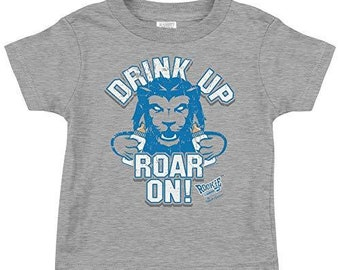 Rookie Wear by Smack Apparel Kansas City Football Fans NB-4T Drink Up Chop On Red Onesie or Toddler Tee