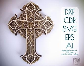 3d Cross Svg Etsy