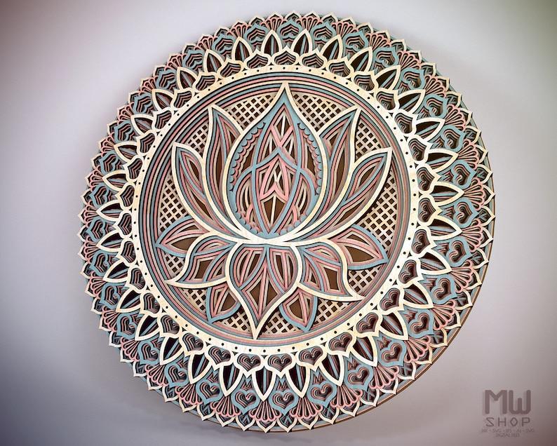 Lotus Flower Mandala Dxf File Mandala Dxf File For Laser Flower Mandala Svg File Lotus Laser