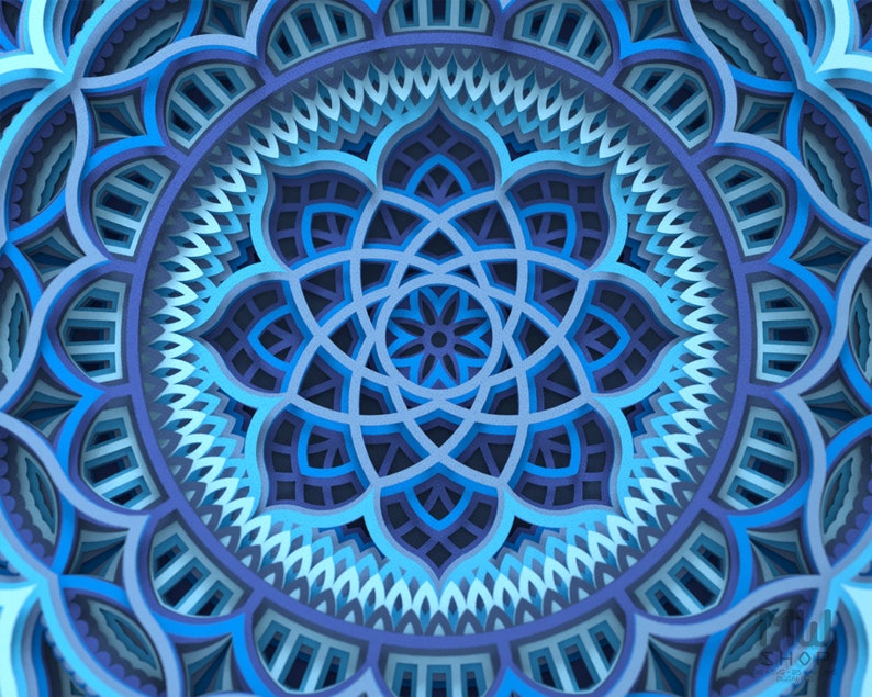 Download M128 Layered Mandala Template For Cutting Mandala SVG   Etsy