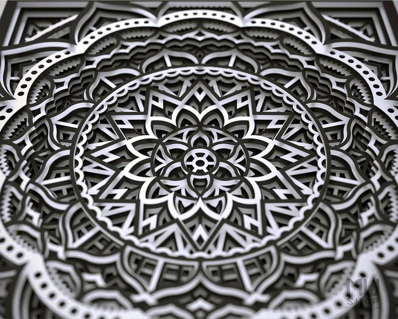 Download M138 Layered Mandala For Cutting Flower Mandala SVG Laser ...