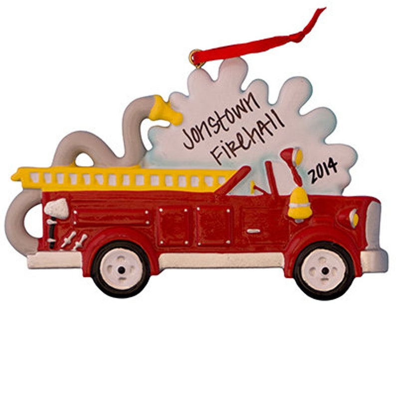 FIRE TRUCK ORNAMENT Kids Toys Ornament Christmas Ornament ...
