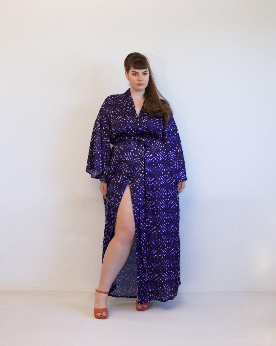 Plus Size Adire Kimono