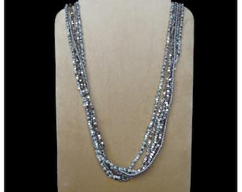 Fashion Jewelry, Long Bead Necklace, Multistrand Long Bead Necklace,  Perfect Gift,  Handmade Jewelry, Glass Bead Jewelry, Boho Jewelry