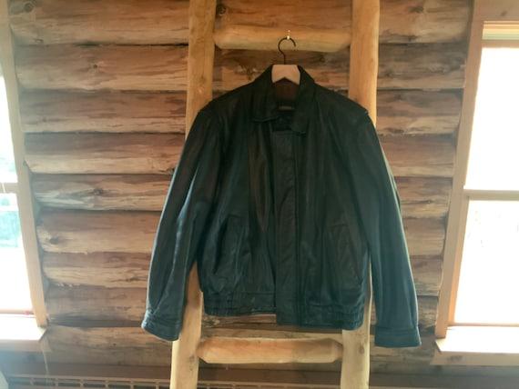 1990s Vintage London Fog – Men's Leather Coat – Si