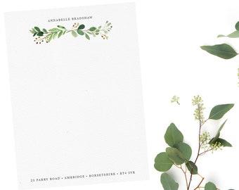 Luxury Personalised Letter Writing Set - Eucalyptus Bough - WP0001