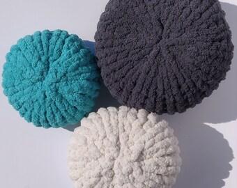 Chunky Knit Pillow - Round Pouf