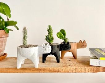 Cat Planter Pot, Cat Plant Gifts, Cat Succulent Planter, Cat Cactus Planter, Animal Planter, Cat Plant Pot, Cat Cactus Planter, Cat Decor