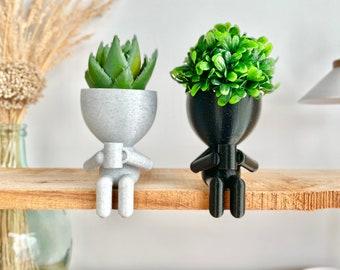 Coffee Lovers Gift Idea, People Drinking Coffee Planter, Coffee Bar Decor, Coffee Table Decor, Plant Gift Idea , Cute Succulent Planter