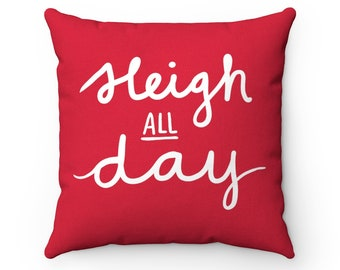 Sleigh All Day - Pillow & Cover (Red)
