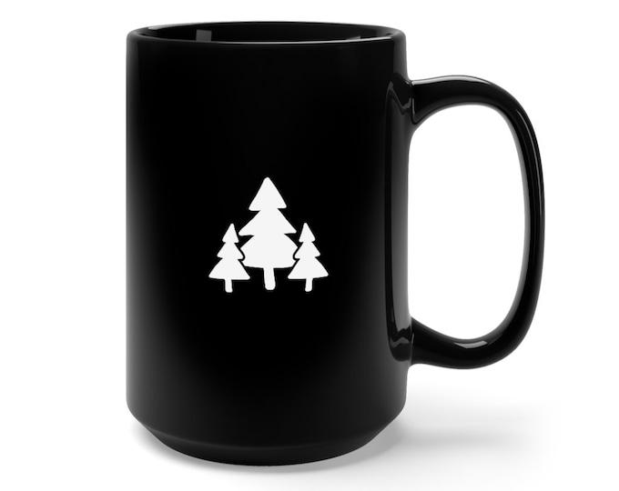 Featured listing image: Forest Coffee Mug - 15 oz Coffee Cup - Coffee Lover Gift - Ceramic Coffee Mug - Minimalist Mug - Adventure Mug - Tea Mug - Christmas Gift