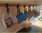 Coffee mug rack - under cabinet