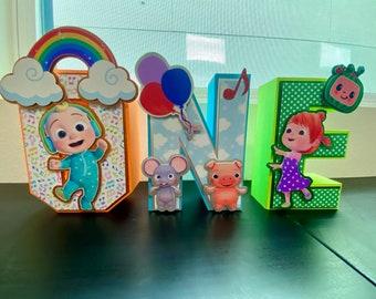 Cocomelon 3D letter,  cocomelon party, Personalized letters, cocomelon party decor
