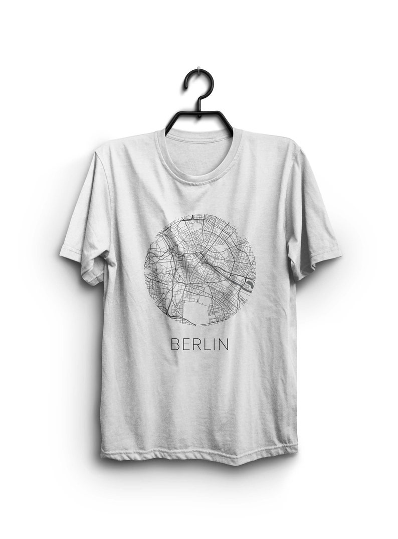 Berlin tee Berlin tshirt Berlin Blueprint t-shirt Berlin city map shirt with Berlin map Aesthetic cool shirt German capital city