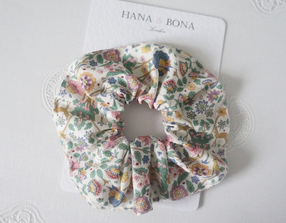 Hair Care Small Liberty Fabric Hair Scrunchie Gift under 20 Christmas Gift Gift for Her
