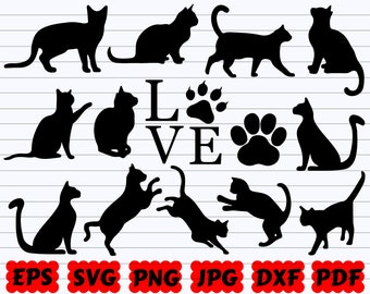Cats Svg Etsy