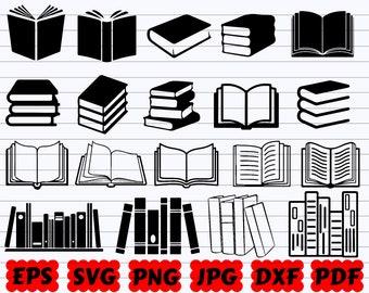Books SVG | Books SVG Bundle | Books Silhouette | Books Cut File | Book Club SVG | School Svg| Stack of books Svg| Student Svg| Book Clipart