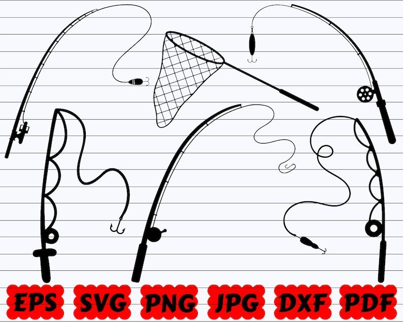 Download Fishing Rod Svg Hook Svg Fishing Pole Svg Reel Svg Fishing Pole Cut File Lures Svg Fishing Rod Cut File Fish Hook Svg Hooker Svg Visual Arts Craft Supplies Tools Delage Com Br