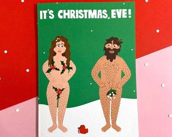 Adam & Eve Card - Funny - Cute - Illustrated - Cheeky - Humor - Pun - Rude