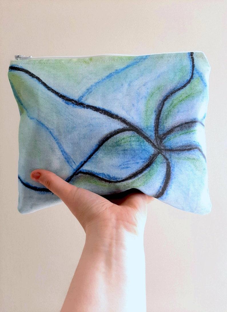 Abstract blue Wash Bag Makeup Bag
