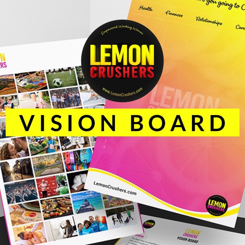 Vision Board Printable Kit 8.5 by 11 Board 64 image 0