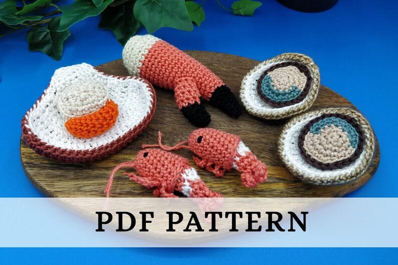 La Dînette de Lalu  Coquillages et Crustacés patron crochet image 0