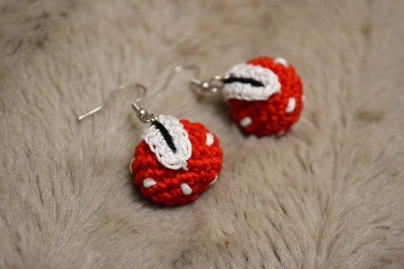Mario Plante Piranha Crochet Earrings  Crochet Earrings Mario image 0