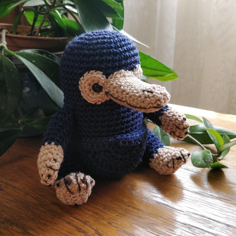 Amigurumi Niffleur crochet Fantastic Animals  Amigurumi Blue