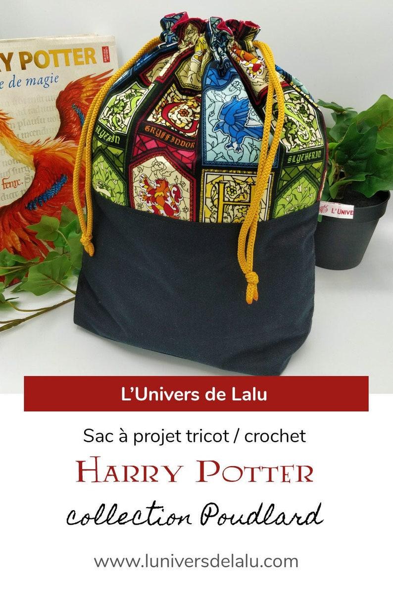 Harry Potter Hogwarts Homes Knitting/Crochet Project Bag  image 0