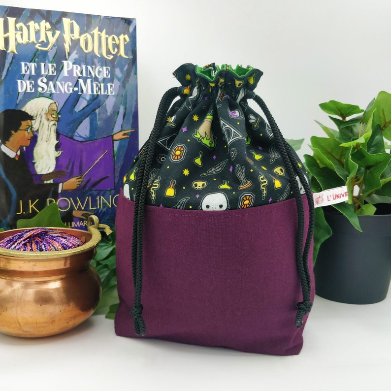Voldemort knitting / crochet project bag small format  image 1