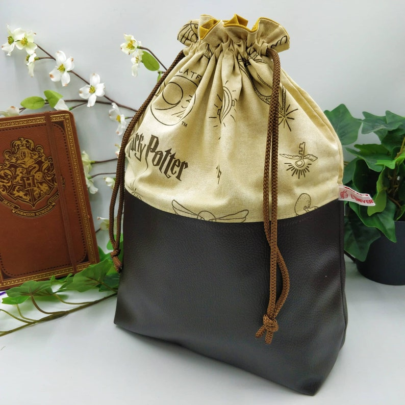 Harry Potter Knitting/Crochet Parchment Project Bag  Project image 0