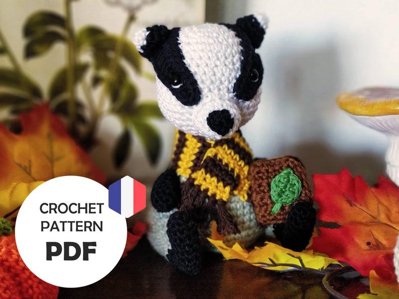 Raymundo le Blaireau élève en botanique  Patron crochet PDF image 1