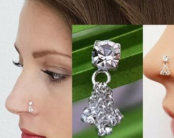 925 Silber Nasenpiercing Nasenstecker Nasenring Stecker Piercing Nasenring Blume