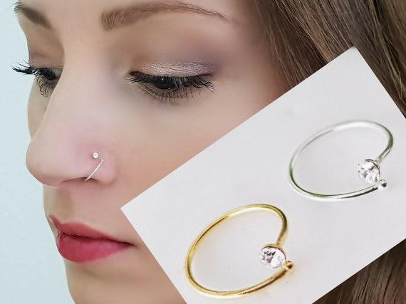 925 Sterling Silver Nose Stud Nose Piercing Nose Plug Nose Etsy