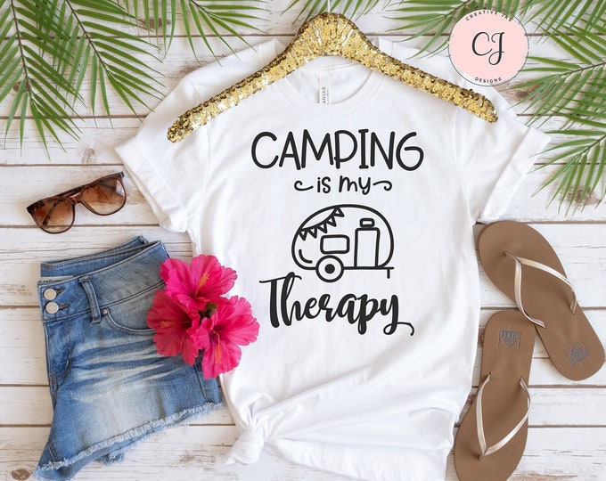 Camping is my Therapy Shirt