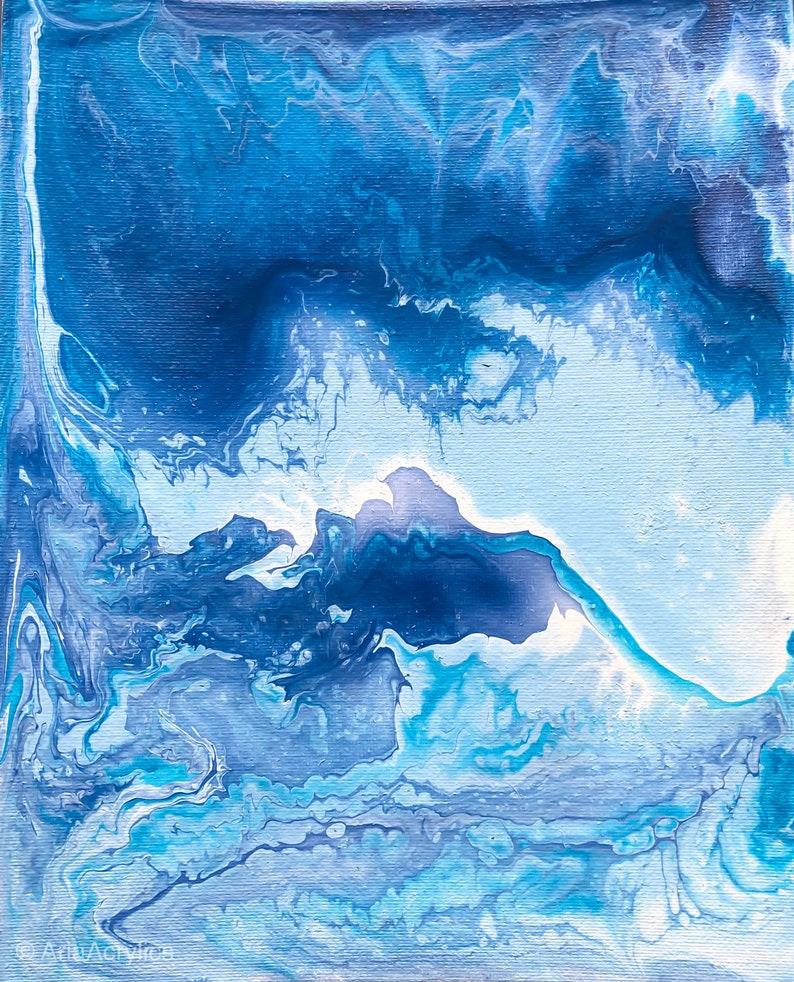 8x10 Acrylic Pour: New Providence Island image 0