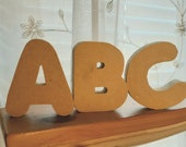 Chunky self-standing 1 2 quot thick 2 quot tall letters great for making homemade wall hangings and other crafts