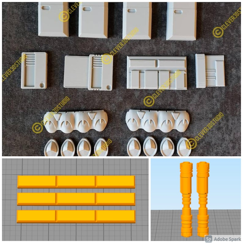 Boxes Knuckle Covers accessories cylinders Cara Dune Belt Greebles detonators