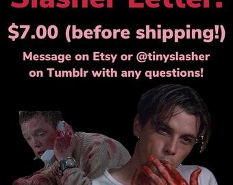 Movie Slasher Letter