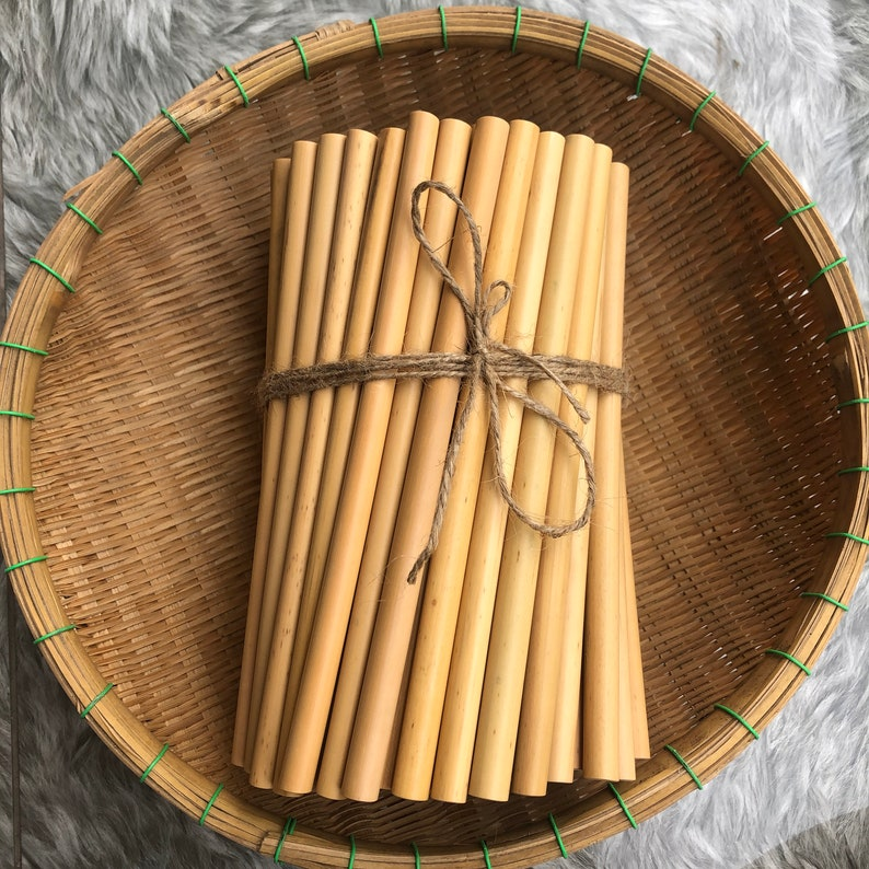 Personalized VIET Bamboo Straws  Eco-Friendly Reusable image 0