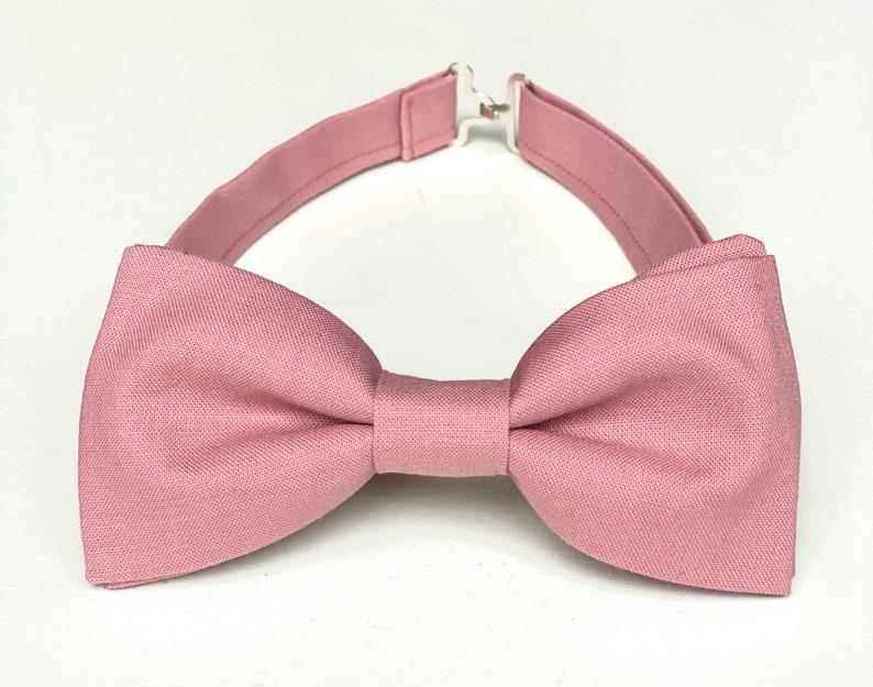 dusty pink bow tie dusty rose groomsmen bow ties mens bow ties pre-tieclip-on bow tie wedding bow tie boys bow tie Dusty rose bow tie