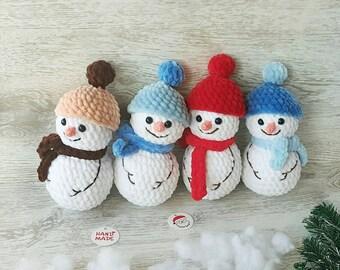 Crochet snowman amigurumi | Amiguroom Toys | 270x340