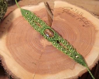 Boho macrame bracelet with tiger eye / bracelet with stone / tiger eye bracelet / simple macrame bracelet with stone
