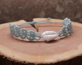 Macrame Bracelet / Bracelet with Shell / Shell Bracelet / Macrame Bracelet / Bracelet with Seashell
