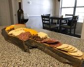 Rustic cedar charcuterie board