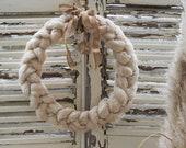 Christmas wreath braid