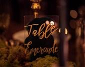 Table name in Plexiglas