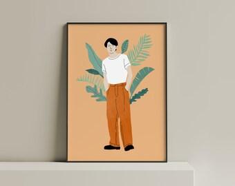 Casual Style   Illustration   Art printing   Fine Art Print