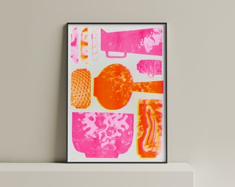 Marine Ceramics   29.7 x 42 cm   Limited Edition   Risography print   Art printing   Art Print